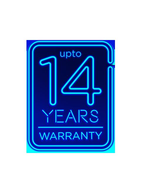 14 year warranty neon No BG copy-padding